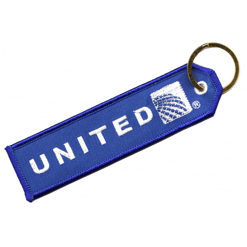 United Continental Embroidered Keyring