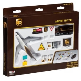 UPS Airport 12 Piece Model Play Set