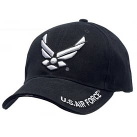 US Air Force Modern Logo Baseball Cap in Black