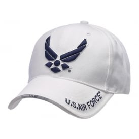 US Air Force Modern Logo Baseball Cap in White