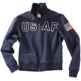 USAF Full Zip Sweat in Navy