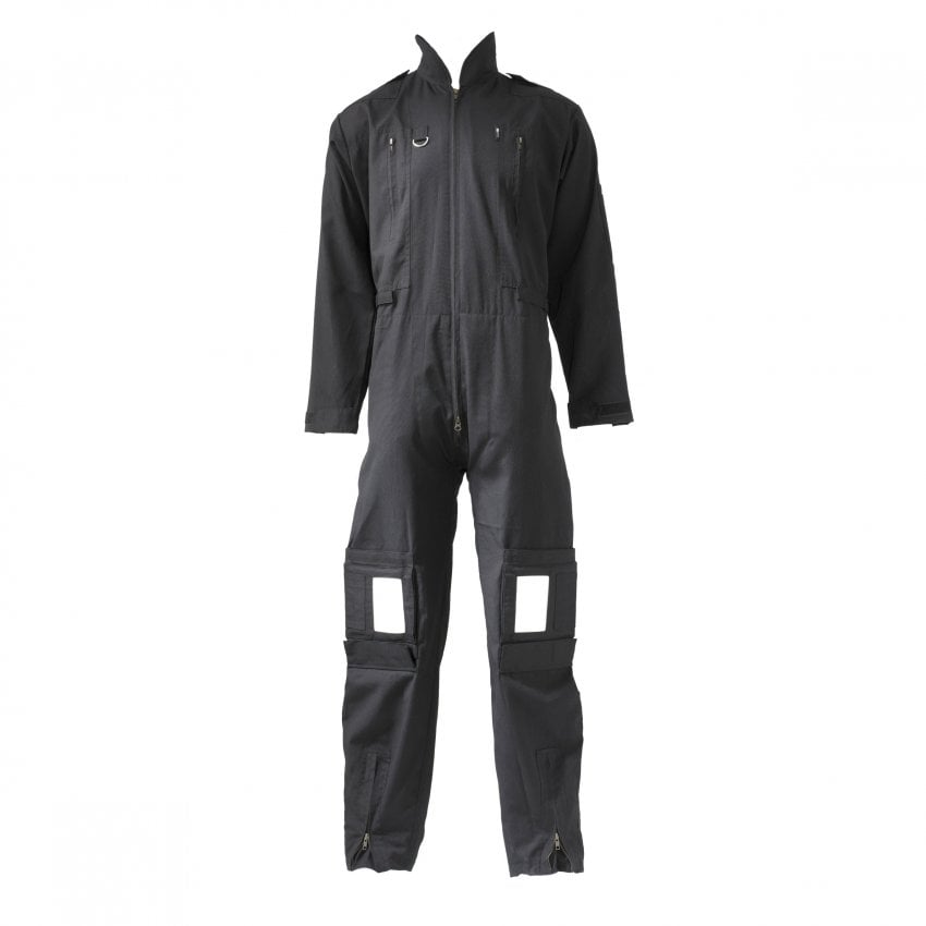 Deluxe Pilot Flight Suit - Black