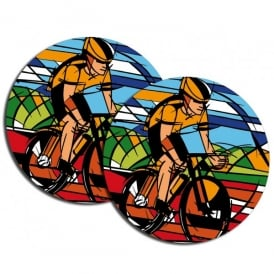 Vibrant Cycling Coasters - Pack of 2