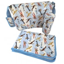 Vintage Planes Baby Changing Set