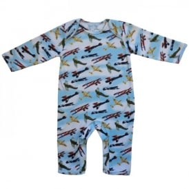 Powell Craft Vintage Planes Baby Jumpsuit
