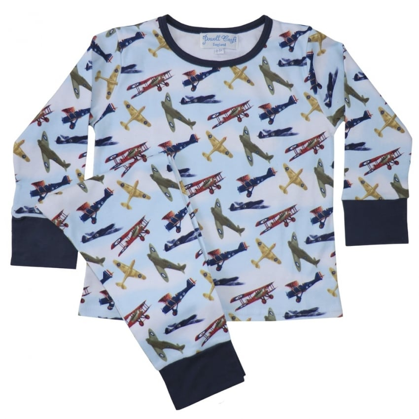 Vintage Planes Crew Neck Childrens Pyjamas