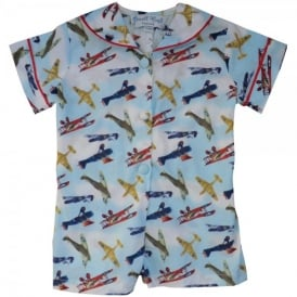Powell Craft Vintage Planes Romper Suit