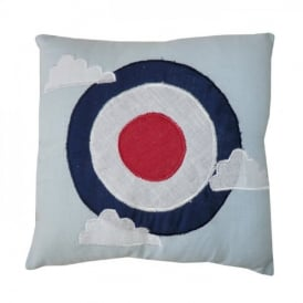 Powell Craft Vintage Planes Target Mini Cushion (Filled)
