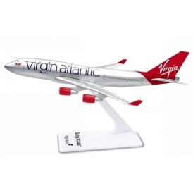 Virgin Atlantic B747 Snap Model Toy - Scale 1:250