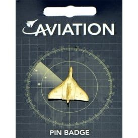 Vulcan Bomber Gold Plated Pin Badge