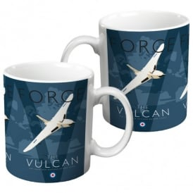 Vulcan Mug - White on Blue