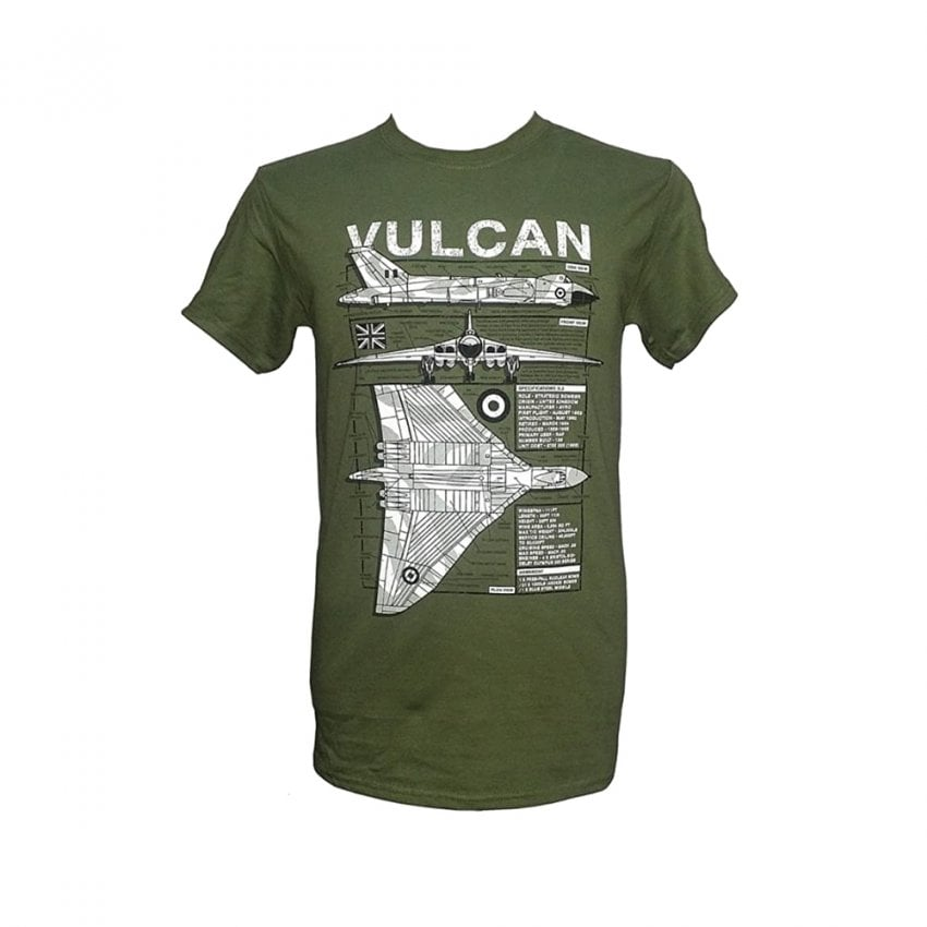 Vulcan Plan Motif T-Shirt (Green)