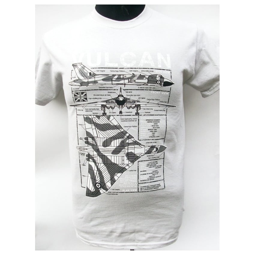 Vulcan Plan Motif T-Shirt (Grey)