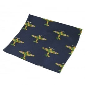 Tie studio Warplanes Silk Handkerchief on Navy