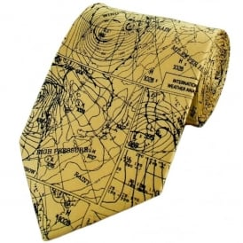 Tie studio Weather Map Silk Tie