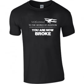 Chocks Away Welcome To Aviation T-Shirt