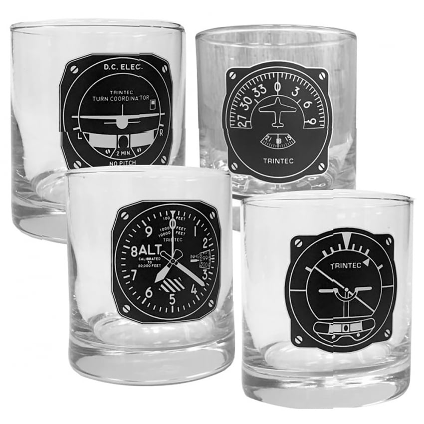 Whiskey Instrument Glass Tumblers - Set of 4