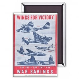 Wings for Victory Fridge Magnet