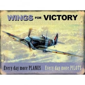 Original Metal Sign Company Wings for Victory Spitfire Fridge Magnet