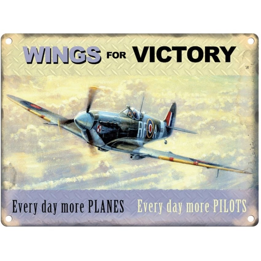 Wings for Victory Spitfire Metal Sign