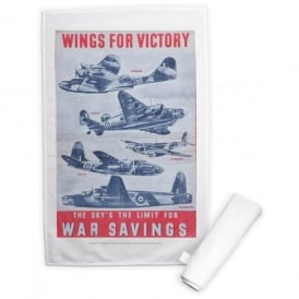 Wings for Victory Tea Towel