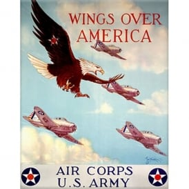 Wings Over America Fridge Magnet
