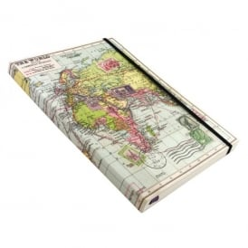 Wild & Wolfe World Map A5 Notebook