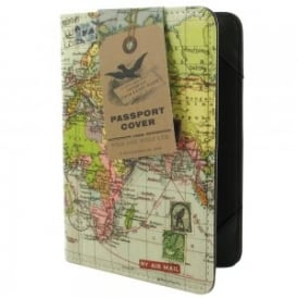 Wild & Wolfe World Map Passport Cover