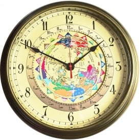 World Time Antique Brass 14