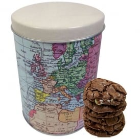 World Traveller Round Caddy of Mint Choc Cookies