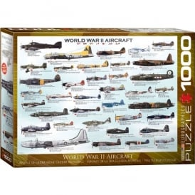 World War 2 Aircraft Jigsaw Puzzle (1000 pieces)