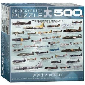 EuroGraphics World War 2 Aircraft Jigsaw Puzzle (500 pieces)