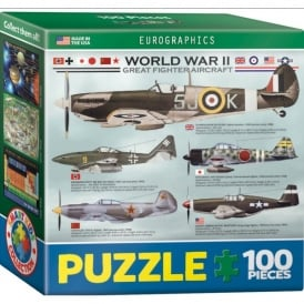 World War 2 Aircraft Mini Jigsaw (100 pieces)