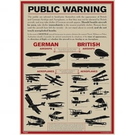 World War I Aircraft Identification Poster