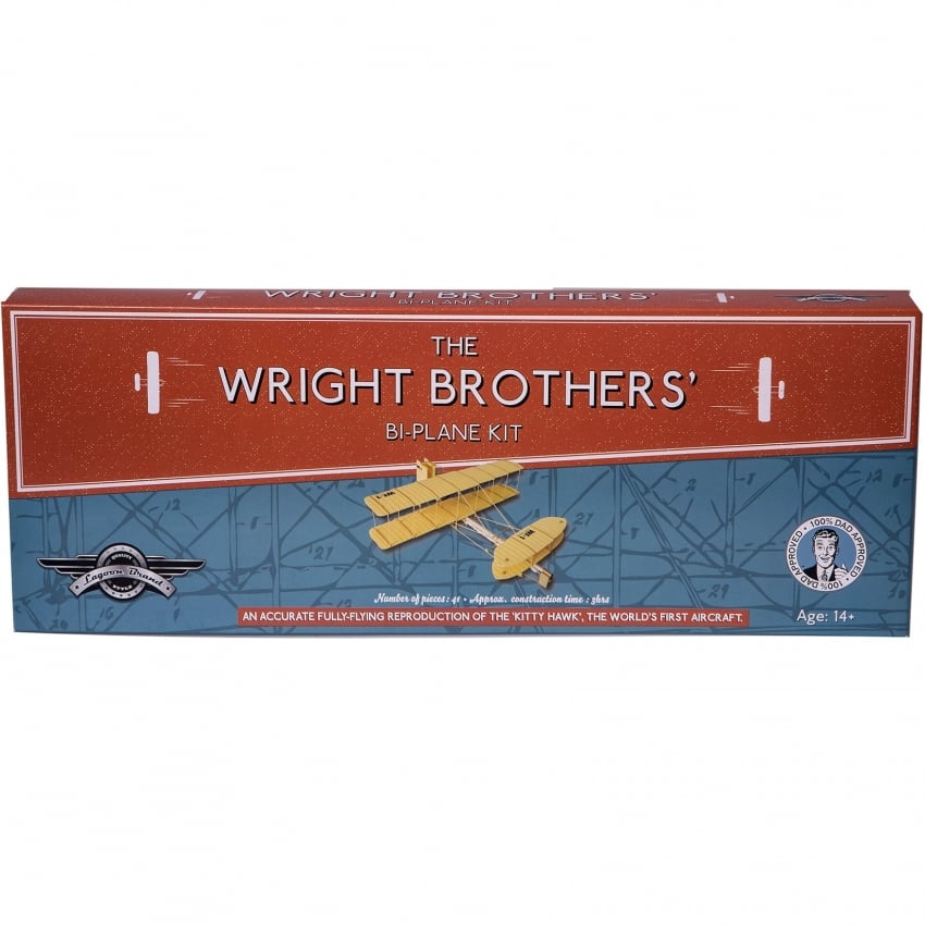 Wright Brothers Bi-Plane 41 Piece Rubber Power Kit