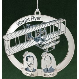 Wright Brothers Christmas Tree Aircraft Ornament
