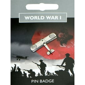 WW1 Bi-Plane Pewter Pin Badge