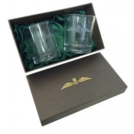 WW1 Wings Whisky Glasses (Pair)