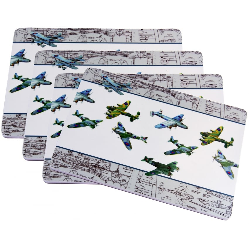 WW2 Planes Montage Placemats - SET OF 4