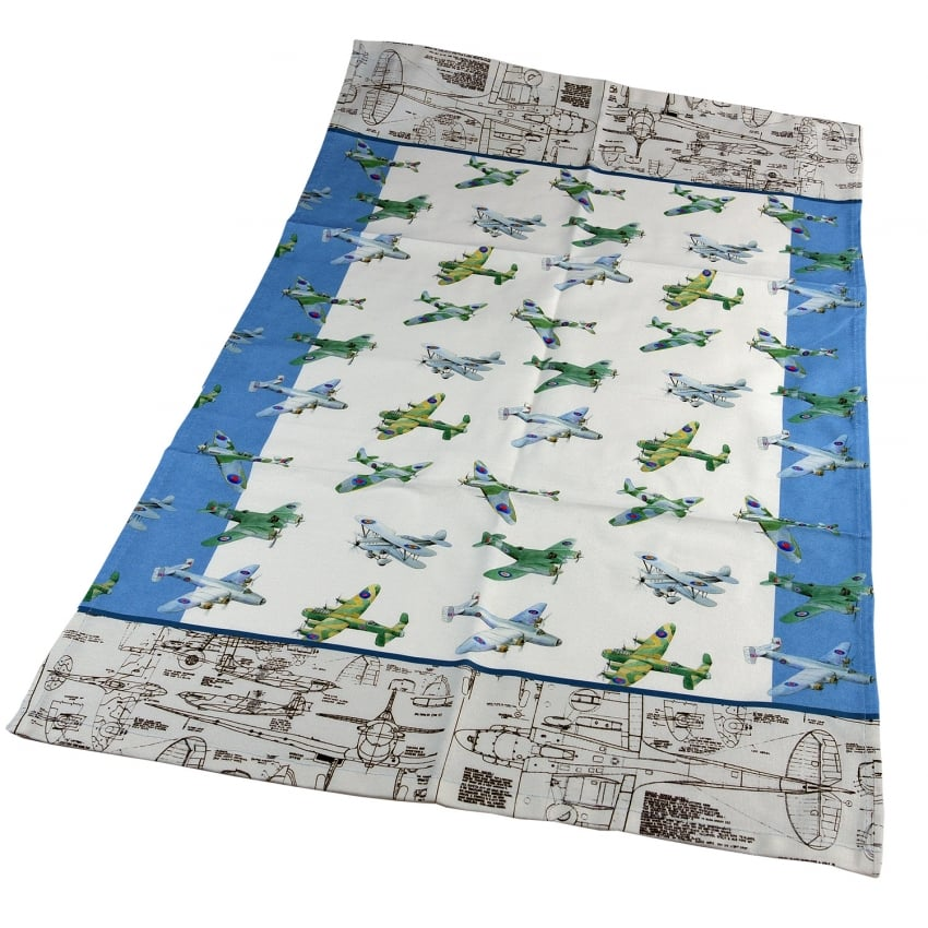 WW2 Planes Montage Tea Towel
