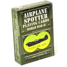 Gifts For Aviators WWII Airplane Spotter Playing Cards - Green Box