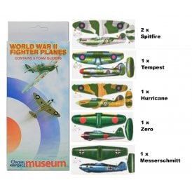 WWII Fighter Planes Pack of 6