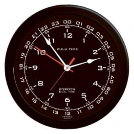 "Zulu Time 14"" Dual Clock"
